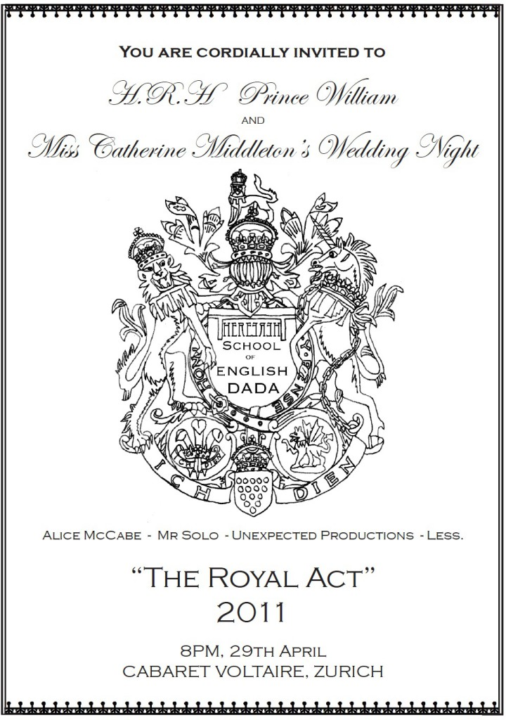 The royal act invite small